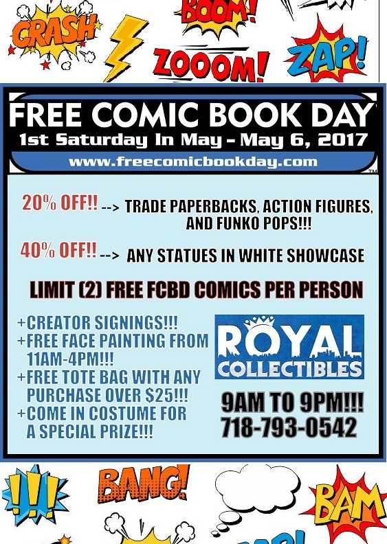 FREE COMIC BOOK DAY 2017!!! | Royal Collectibles